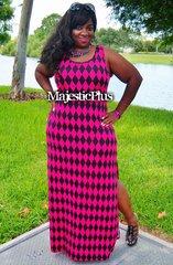 Harlequin Maxi Dress