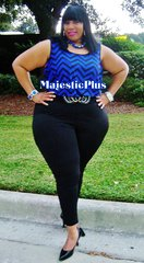 Black & Blue Chevron Jumpsuit