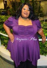 Babydoll Pixie Hem Top- Purple