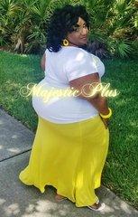 Super Plus Yellow Maxi Skirt