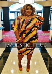 Off Shoulder Blaze Print Overlay BodyCon Dress