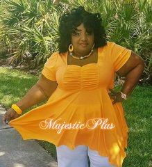 Babydoll Pixie Hem Top- Orange