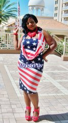 Convertible American Flag Goddess Dress