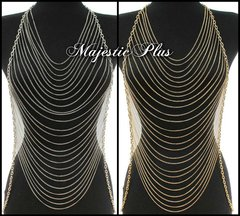 Body Chain Vest w/Draped Front