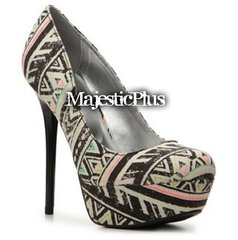 Tribal Cigarette Stiletto Platform Heels