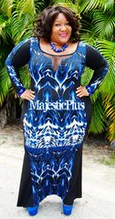 ABSTRACT HOURGLASS BODYCON MERMAID DRESS