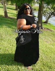 Super Plus Black Maxi Skirt