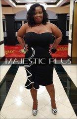 Strapless Side Ruffle Bodycon Dress