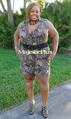 Cheetah Print Sleeveless Romper