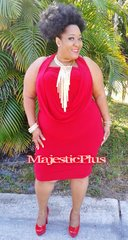 CONVERTIBLE RED SHORT GODDESS DRESS
