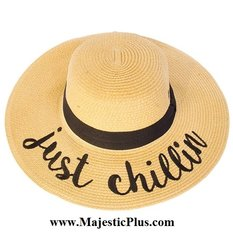 """Wide Brim """"Just Chillin"""" Sun Hat"""