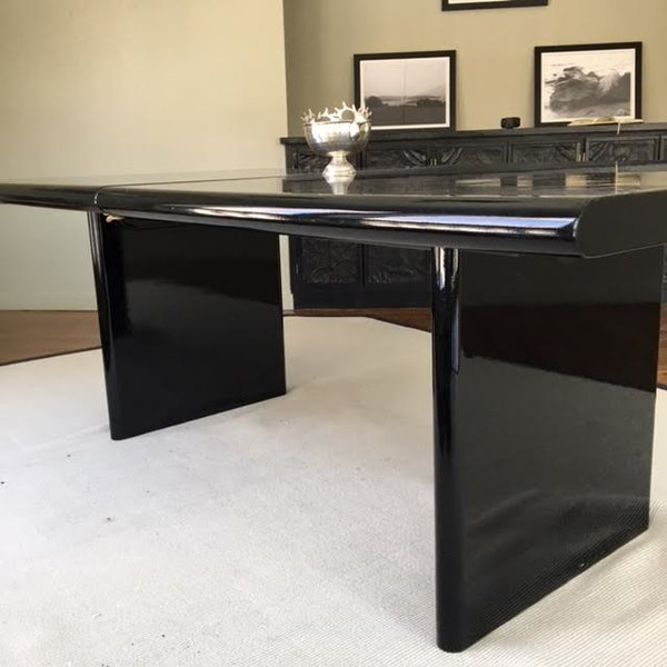 lacquer furniture modern. Black Lacquer Modern Table, 78 X 42w 29 (one Leaf 23\ Furniture O
