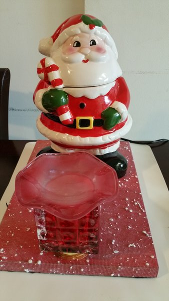 One of a Kind Santa Cookie Jar Adjustable Electric Burner/Warmer