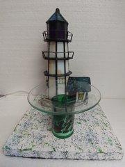 One of a Kind Glass Lighthouse Adjustable Electric Burner