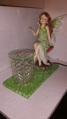 One of a Kind Big Green Fairy Adjustable Electric Burner/Warmer