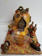One of a Kind Thanksgiving Pumpkin with Scarecrows Adjustable Electric Burner