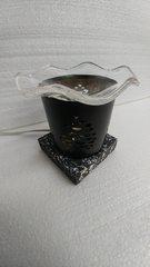 One of a Kind Black Pine Cone Metal Adjustable Electric Burner