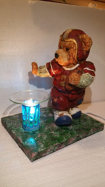 One of a Kind Football Bear Adjustable Electric Burner
