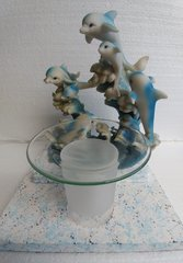 One of a Kind  Six Dolphins Adjustable Electric Burner