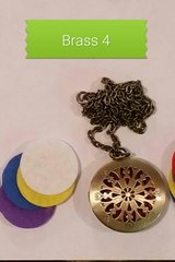 Brass 4 Aroma Therapy Diffuser Locket Necklace