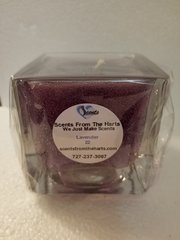 22 Lavender Gel Candle Square Glass