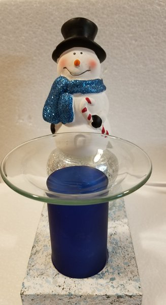One of a Kind Small Christmas Snowman Adjustable Electric Burner