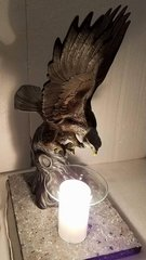 One of a Kind Eagle with Wings Up Adjustable Electric Burner