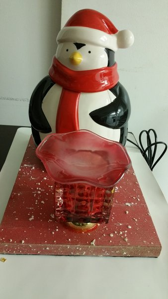 One of a Kind Penguin Cookie Jar Adjustable Electric Burner/Warmer