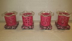 One of a Kind Small Pink Metal Adjustable Electric Burners