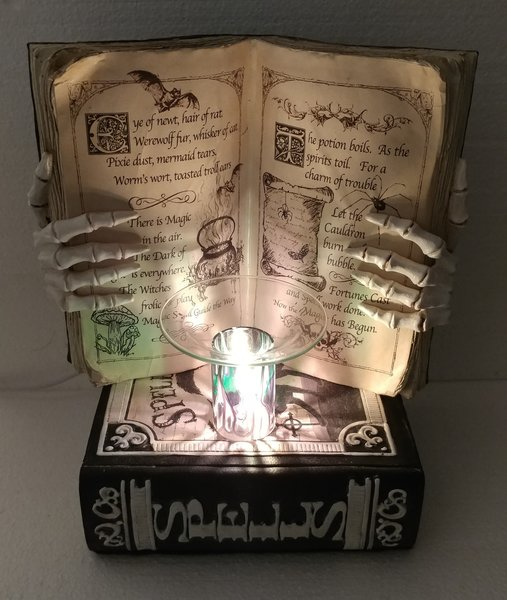 One of a Kind Big Halloween Book Adjustable Electric Burner