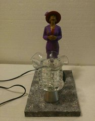 One of a Kind Red Hat Lady Adjustable Electric Burner/Warmer