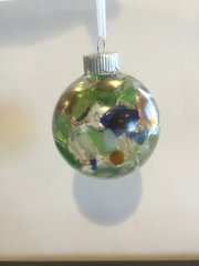 Buffalo Beach Glass Christmas Ornament with Whole Pieces