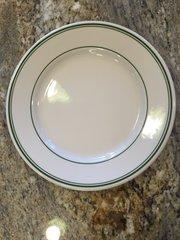 9-Inch Green Striped Dinner Plate Rolled Edge-Rushford