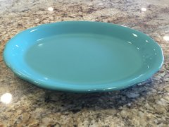 12.5-Inch Turquoise Platter- Scalloped Edge