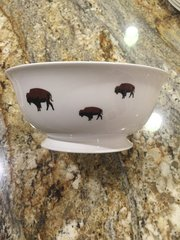 Limited Edition Roaming Buffalo Serving Bowl