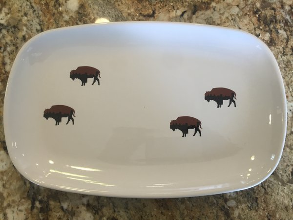 Limited Edition Roaming Buffalo Dinner Platter | 716 China and ...