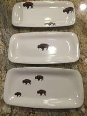 Limited Edition Roaming Buffalo Serving Tray or Rectangular Plate