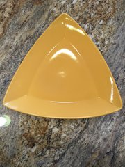 12-Inch Yellow Triangle Plate
