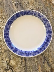 9.75-Inch Marbled Blue Dinner Plate