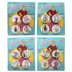 The Simply Divine Cut-Out Doll Book Collectible Button Set Complete Collection