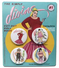 The Simply Divine Cut-Out Doll Book Collectible Button Set #1