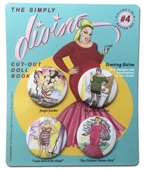 The Simply Divine Cut-Out Doll Book Collectible Button Set #4