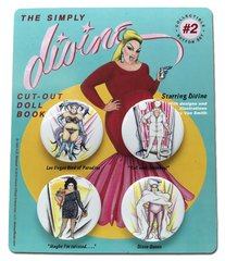 The Simply Divine Cut-Out Doll Book Collectible Button Set #2