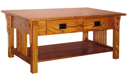 Pr61 prairie mission coffee table w 2 drawers 24 x 40 for Coffee table 40 x 24