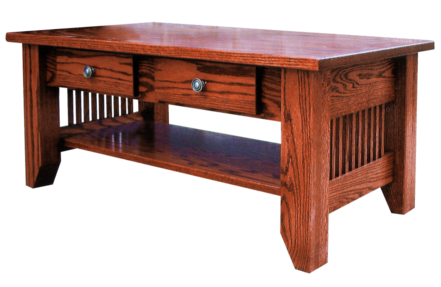 M121 mission coffee table w drawers and 1 top 24 x 40 for Coffee table 40 x 24