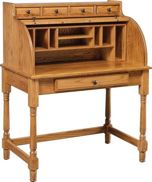 Co 50 Large Student Rolltop Desk Amish Attic Furniture