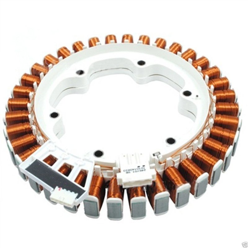 Used tested genuine lg washing machine motor stator assembly 4417ea1002f  genuine lg part fits an array of lg models including: f1443kd, f1443kd6,