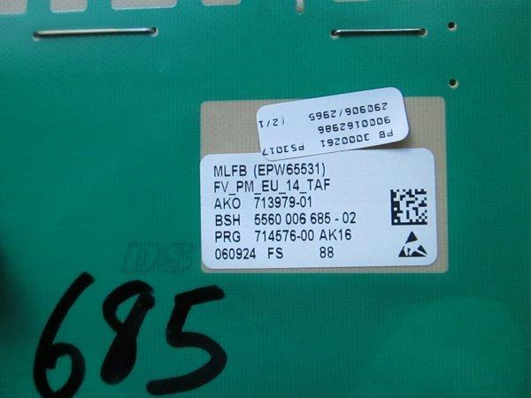 5560 006 685-02 ako 713979-01 epw65531 bosch washing machine pcb used  tested,,,stocked,,5560 006427,,