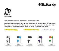 Sullcandy JIB Wired Earphone without Mic