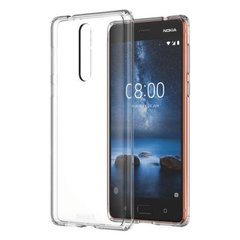 Nokia 8 Back Case Soft - transparent